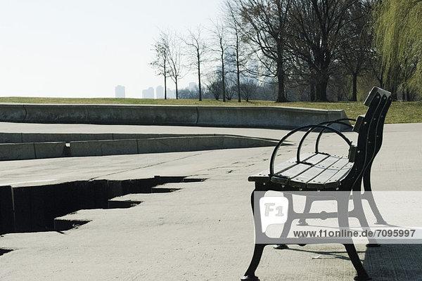 BBench in einem Park  Lincoln Park Chicago