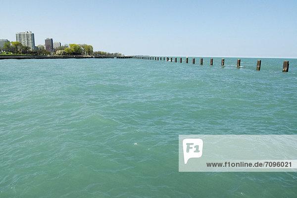 Blick auf den Lake Michigan  Chicago