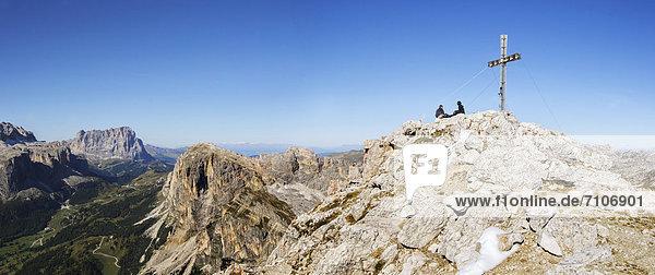 Gipfel des Sassongher  Dolomiten  Südtirol  Italien Gipfel des Sassongher, Dolomiten, Südtirol, Italien