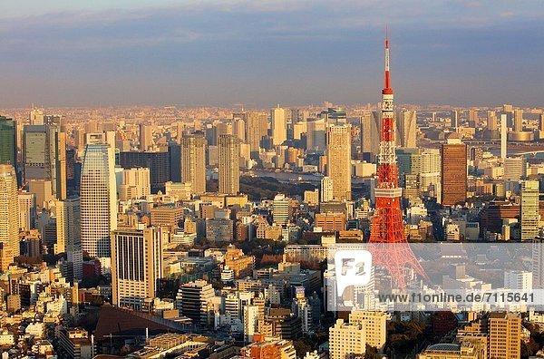 Skyline  Skylines  Tokyo  Hauptstadt  Asien  Japan  rechts