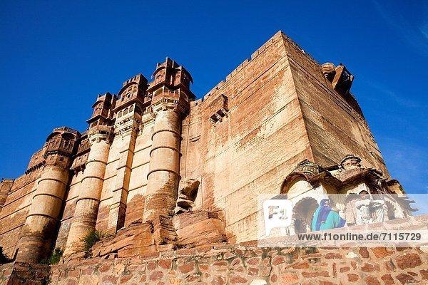 Flachwinkelansicht  Indien  Jodhpur  Rajasthan