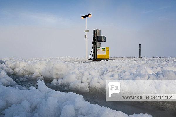 Last petrol station before the Icelandic Highlands  Hrauneyjar  Iceland  Europe