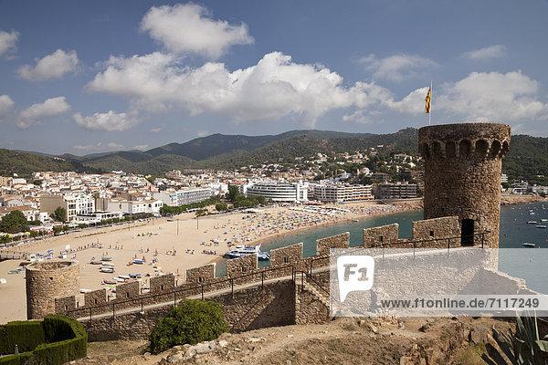 Europa Stadt Geschichte Katalonien Costa Brava Spanien Tossa de Mar