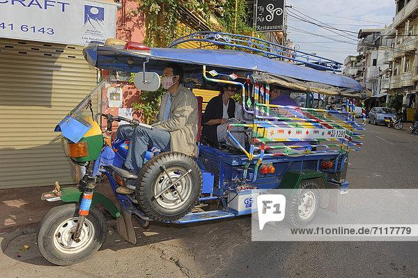 Tuk-Tuk Taxi in Vientiane  Laos  Südostasien  Asien