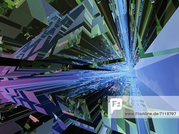 Abstraktes geometrisches Raster mit Fluchtpunkt