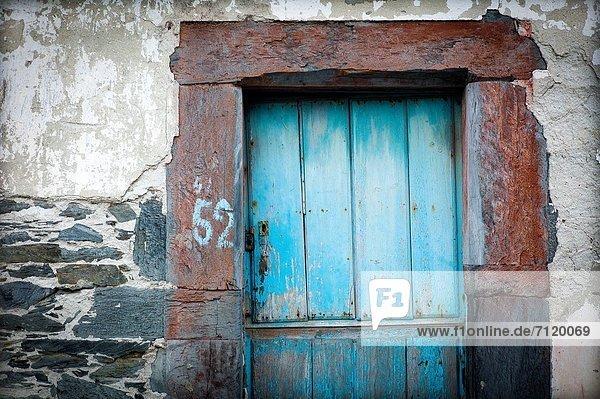Wohnhaus Tür Dorf verlassen Spanien