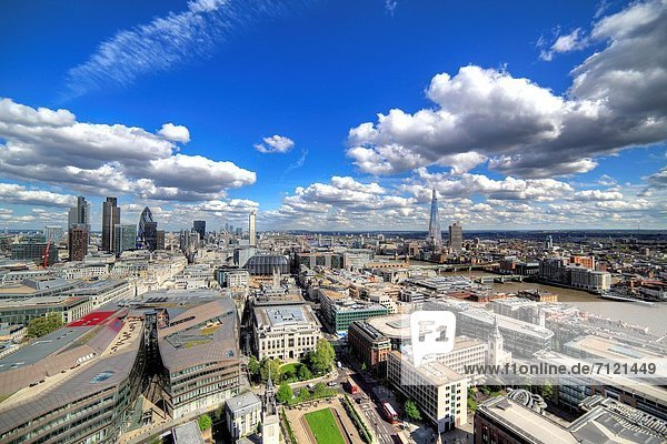 Cityscape from St Paul´s Cathedral  London  UK  London  UK