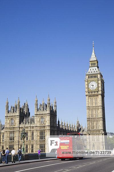 Baustelle Europa Urlaub Großbritannien London Hauptstadt Reise Parlamentsgebäude Westminster Abbey Westminster Omnibus Sehenswürdigkeit UNESCO-Welterbe Big Ben England Houses of Parliament Tourismus Palace of Westminster