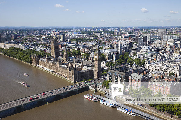 UK  United Kingdom  Europe  Great Britain  England  London  Westminster  Houses of Parliament  Palace of Westminster  Big Ben  Parliament  Landmark  River Thames  Thames  River  River  Rivers  London Eye  Wheel  Aerial View  Skyline  London Skyline  UNESCO  World Heritage  Sites  Tourism  Travel  Holiday  Vacation