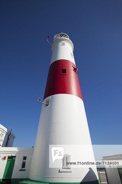 Europa  Urlaub  britisch  Großbritannien  Küste  Reise  Leuchtturm  Dorset  England  Portland Bill  Tourismus  Weymouth