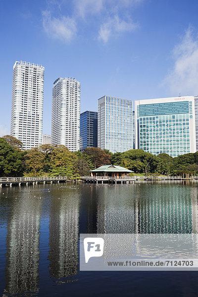 Tokyo  Hauptstadt  Architektur  Garten  moderne Architektur  Asien  Japan  japanisch  modern