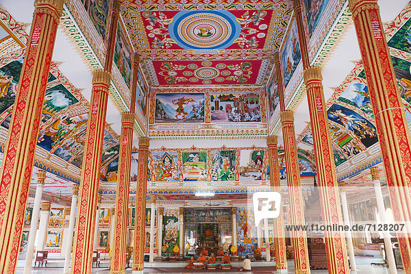 Asia  Laos  Vientiane  Pha That Luang  Temple  Temples  Monk  Monks  Buddhist  Buddhism  Buddhist Temple  Interior  Holiday  Vacation  Tourism  Travel