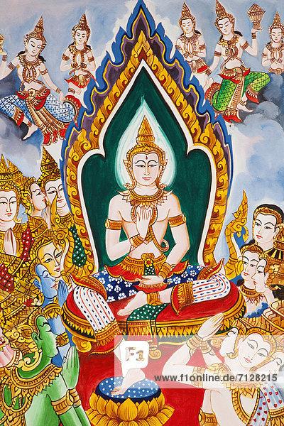 Vientiane  Hauptstadt  Urlaub  Reise  Buddhistischer Tempel  fünfstöckig  Buddhismus  Tempel  Asien  Buddha  Laos  Tourismus
