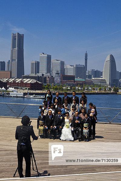 Skyline  Skylines  Hochzeit  Tradition  Urlaub  Reise  Großstadt  Fotograf  Asien  Japan  modern  Yokohama
