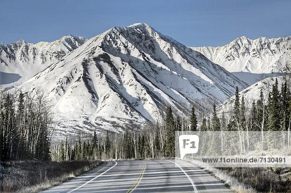 steese  highway  Alaska  USA  United States  America  road  mountain  nature