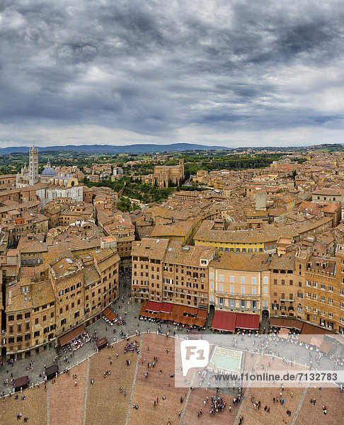 Dach  Europa  Platz  Toskana  Siena  Italien