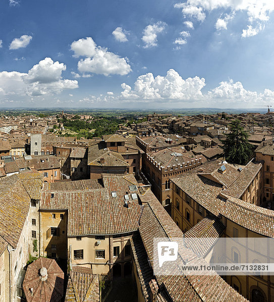 Siena  Sienna  Italy  Europe  Tuscany  Toscana  roofs  houses  homes  medieval  town  city