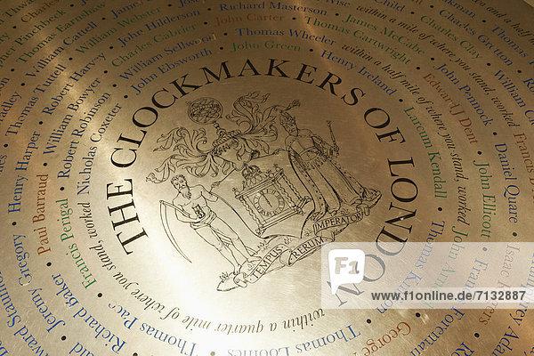 Europa  britisch  Großbritannien  London  Hauptstadt  Großstadt  Innenaufnahme  Uhr  Museum  England