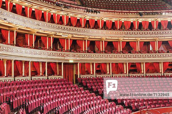 Europa  britisch  Großbritannien  London  Hauptstadt  Innenaufnahme  Royal Albert Hall  Theatergebäude  Theater  England