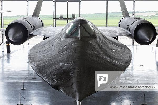 Flugzeug  Europa  britisch  Großbritannien  Innenaufnahme  Museum  Luftfahrzeug  Cambridgeshire  England  Militär