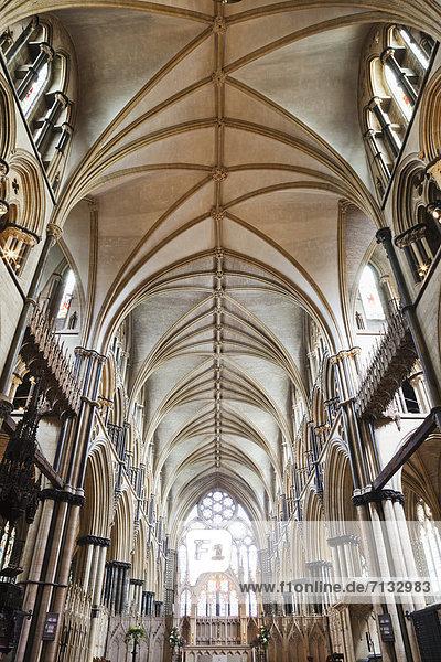 Europa  britisch  Großbritannien  Innenaufnahme  Kathedrale  England  Lincoln  Lincolnshire
