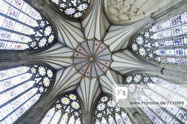 Europa  britisch  Großbritannien  Grafik  Innenaufnahme  Yorkshire and the Humber  England  Klosterkirche