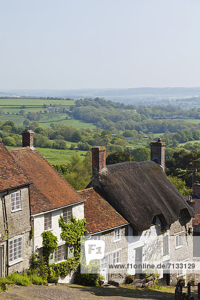 Europa britisch Großbritannien Fernverkehrsstraße Dorset England Shaftesbury