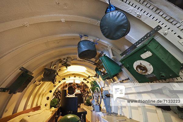 Europa  britisch  Großbritannien  Innenaufnahme  Museum  England  Hampshire  U-Boot