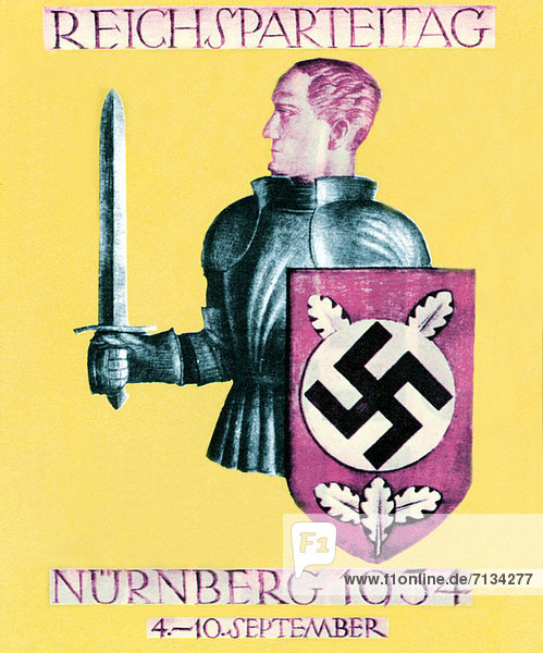 Party  Postkarte  Karte  Ritter  Karte  Deutschland  Nürnberg  Schwert