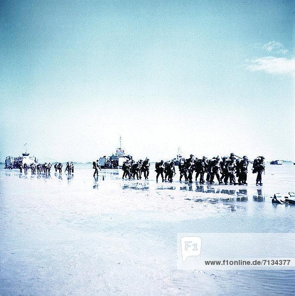 Frankreich  Meer  Soldat  Schiff  kanadisch  Infanterie  Normandie