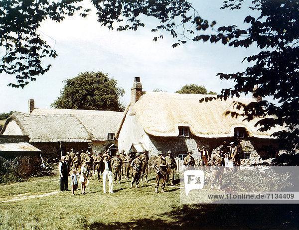 Frankreich  Vorbereitung  Großbritannien  Training  amerikanisch  eindringen  Heer  Normandie