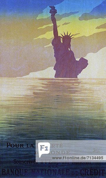 Frankreich  Freiheit  französisch  Kredit  Poster