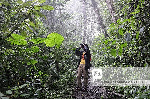 Nationalpark  Frau  Mensch  Wald  wandern  Mittelamerika  Vogelbeobachtung  UNESCO-Welterbe  Regenwald  Panama