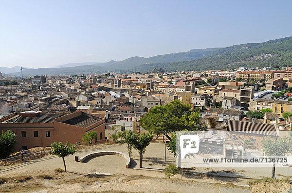 View of Montblanc  Tarragona province  Catalonia  Spain  Europe  PublicGround