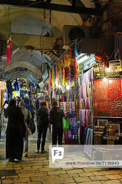 Via Dolorosa  Bazar  Souk  Altstadt  Jerusalem  Israel  Naher Osten  Asien