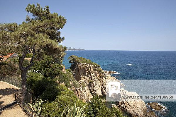 Europa Ansicht Blanes Katalonien Costa Brava Spanien