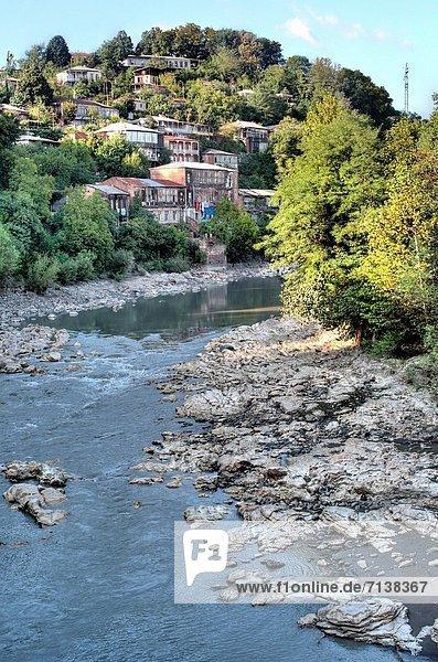 Rioni River  Kutaisi  Imereti  Georgia