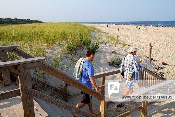 Mann , sonnenbaden,  sonnen , Sand , Düne , Gras , Cape Cod National Seashore , Atlantischer Ozean,  Atlantik , Massachusetts