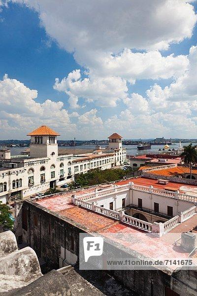 Havanna  Hauptstadt  Erhöhte Ansicht  Aufsicht  Stadtplatz  Kuba