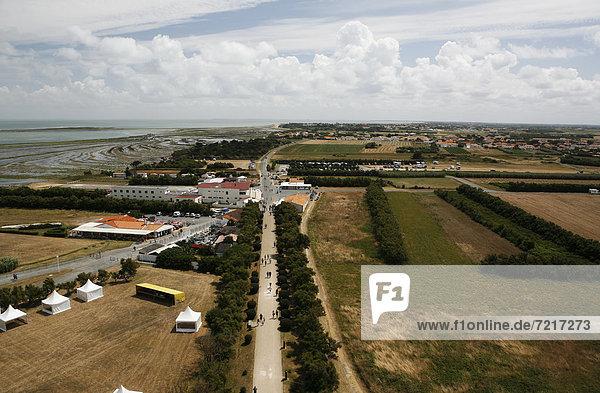 Landscape near the Phare de Chassiron lighthouse  Œle d'OlÈron island  Poitou-Charentes region  departement of Charente-Maritime  France  Europe