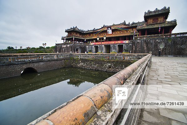 Hue Citadel Gates  The Imperial City  Hue  UNESCO World Heritage Site  Vietnam  Indochina  Southeast Asia  Asia