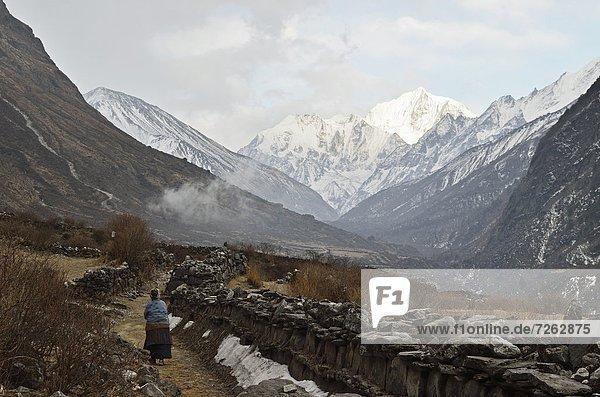 Berg  Tal  Himalaya  Asien  Nepal