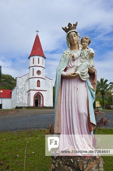 Ostküste  klein  Kirche  Pazifischer Ozean  Pazifik  Stiller Ozean  Großer Ozean  Neukaledonien