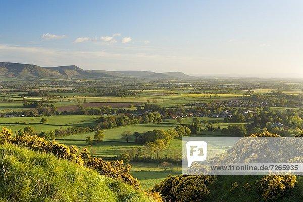 Europa Großbritannien über Hügel Steilküste Holz Ansicht Yorkshire and the Humber Cleveland England North Yorkshire