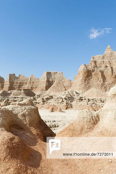 Erosionslandschaft  Verwitterung  Erosion  Door Trail  Badlands-Nationalpark  South Dakota  USA  Vereinigte Staaten von Amerika  Nordamerika