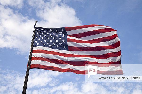 Wehende amerikanische Flagge
