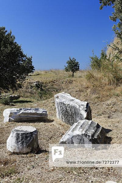 Ruins of Troy  Truva  Canakkale  Marmara  Turkey  Asia