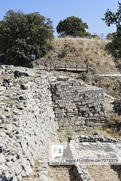 Ruinen von Troja  Troia  Truva  Canakkale  Marmara  Türkei  Asien