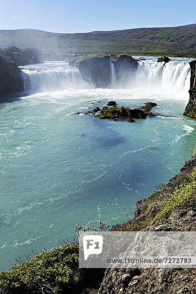 Godafoss waterfall  Iceland  Europe