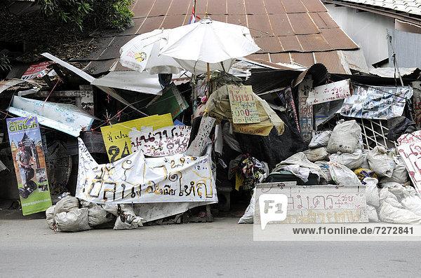 Haufen Wohnhaus frontal Abfall Asien Thailand